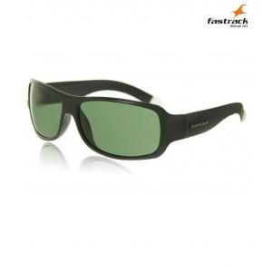 Fastrack P089GR3 10AF Black/Green Sheet Sunglasses