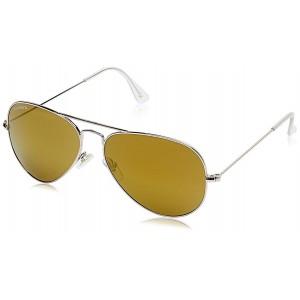 Fastrack M165BR23G Golden Metal Sunglasses