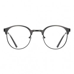 TIJN New Round Designer Metal Eyeglasses Frames with Clear Lens